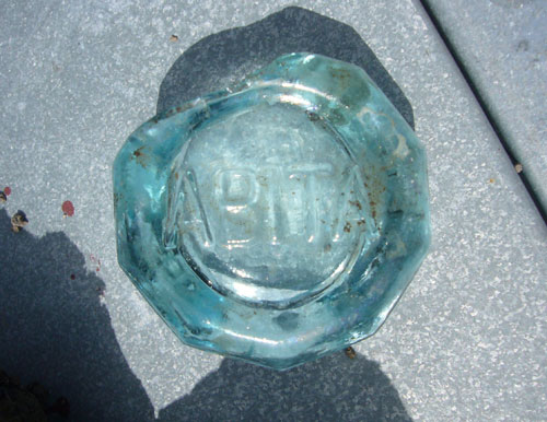 Bottom of Old Abita Bottle