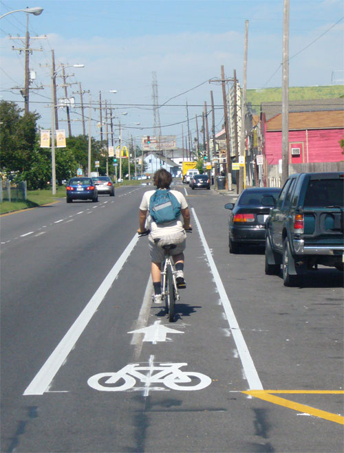 Greg Schatz on St. Claude Ave. Bike Lane